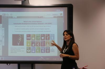 Prof Koundouri lecture on «Science Driven Implementation of Sustainable Development» at the Open University of Cyprus