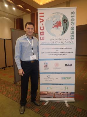 Dr. Nikos Englezos participated in the joint conference of the 7th European Bioremediation Conference (EBC-VII) and the 11th International Society for Environmental Biotechnology conference (ISEB 2018), held in Chania, Greece, 25-28 June, 2018.