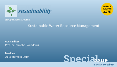 Open Call for Sustainable Water Resource Management publication