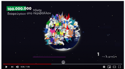 video by the Hellenic Ministry of Energy and Environment on Single-use plastics