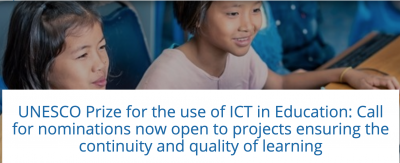 UNESCO Prize for the use of ICT in Education: Call for nominations