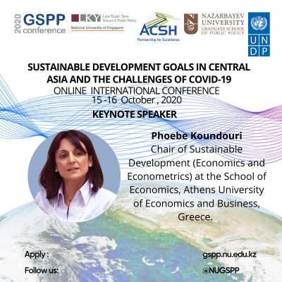 2020 GSPP INTERNATIONAL ONLINE CONFERENCE ON SUSTAINABLE DEVELOPMENT GOALS IN CENTRAL ASIA AND THE CHALLENGES OF COVID-19