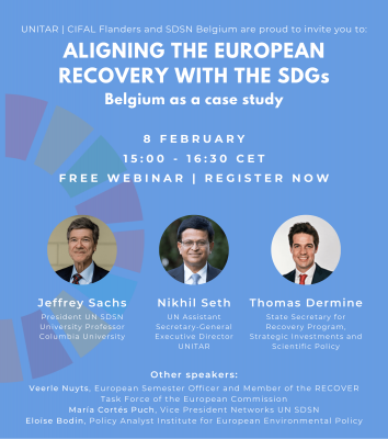 Webinar Feb 8: Aligning the European Recovery with the SDGs – Belgium as a Case Study