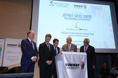 Official Launch of the Jeffrey Sachs Center on Sustainable Development