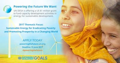 "Funding Opportunity: Initiatives for ""Sustainable Energy for Eradicating Poverty and..."""