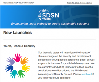 The March 2017 SDSN Youths Newsletter has been launched